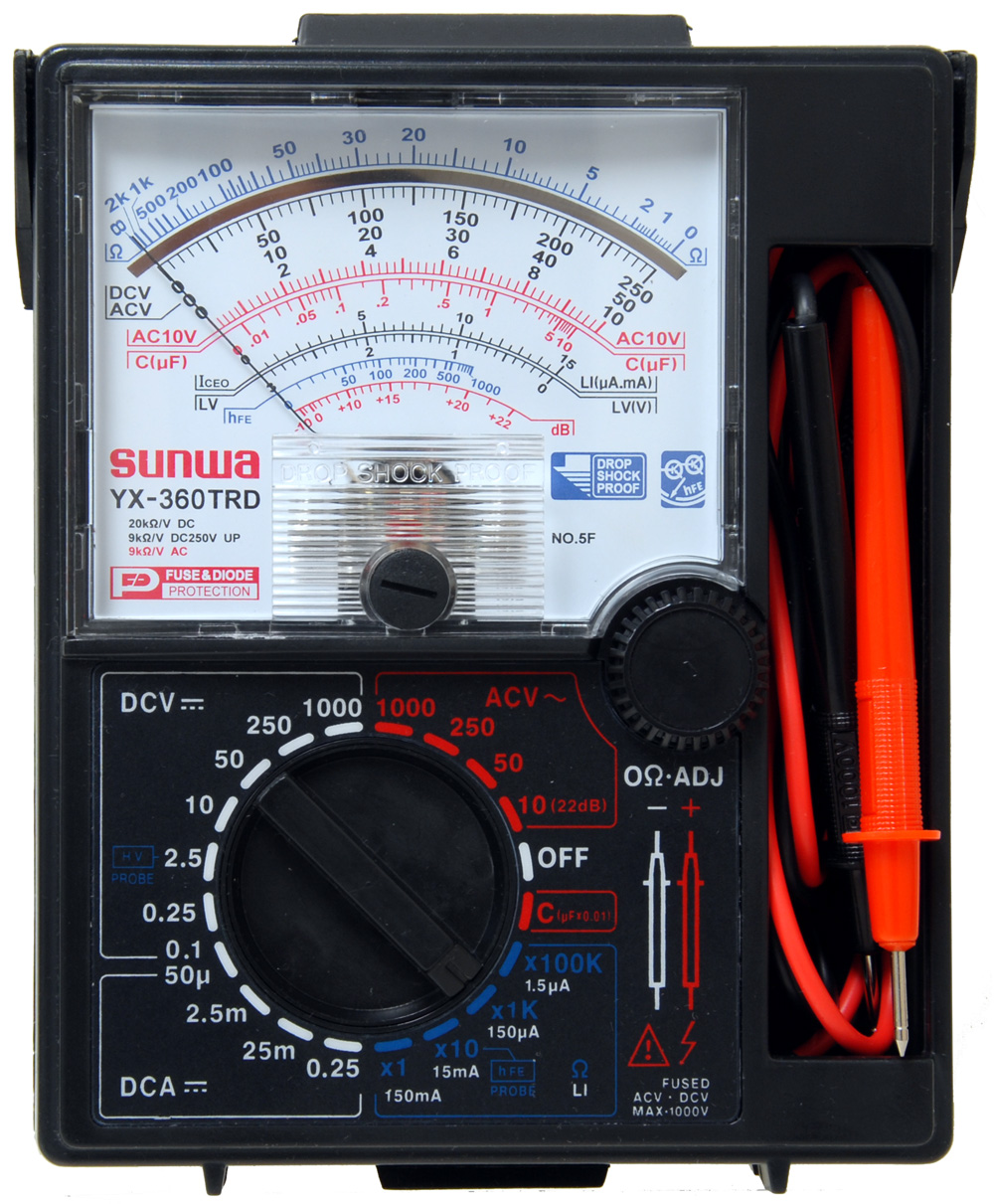 Digital Analog Multimeter : Appliance repair training online self paced courses very