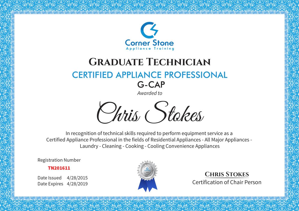 Appliance Certification | Certified Appliance Technician