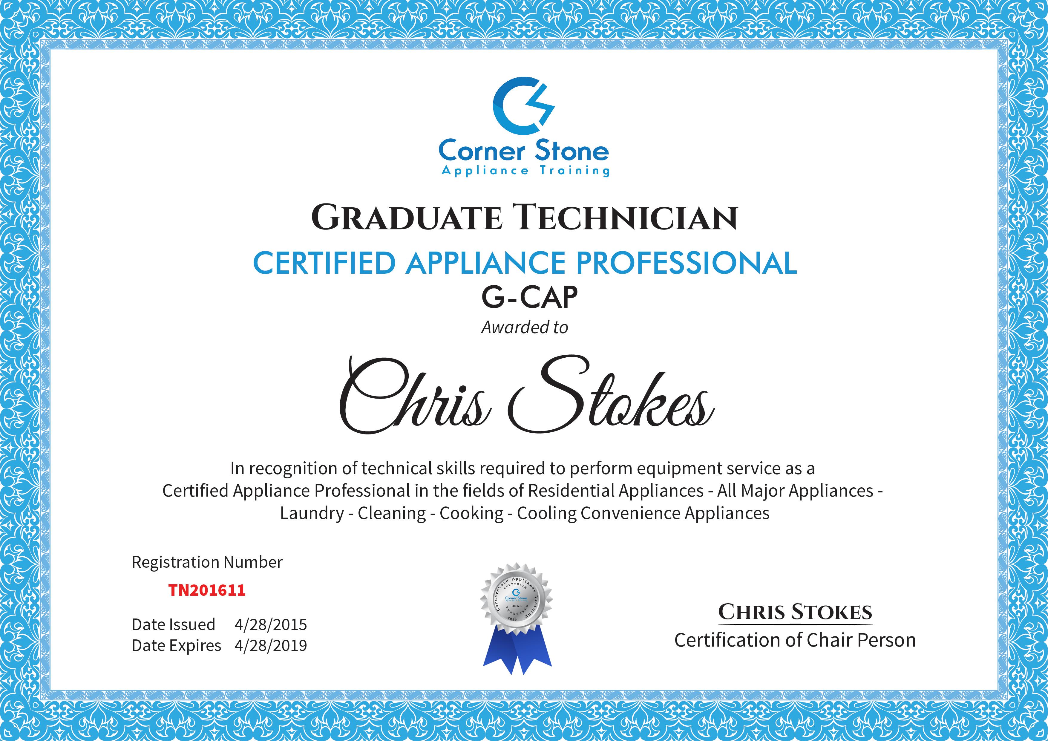 Online Appliance Repair Technician Certification