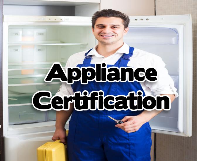 Appliance Certificate | Appliance Training