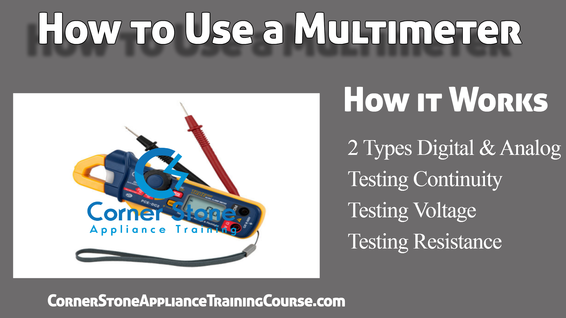 Multimeter - How to Appliance Repair