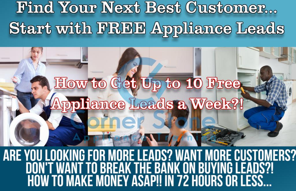 Appliance Repair Leads - 10 Free Appliance Leads a Week